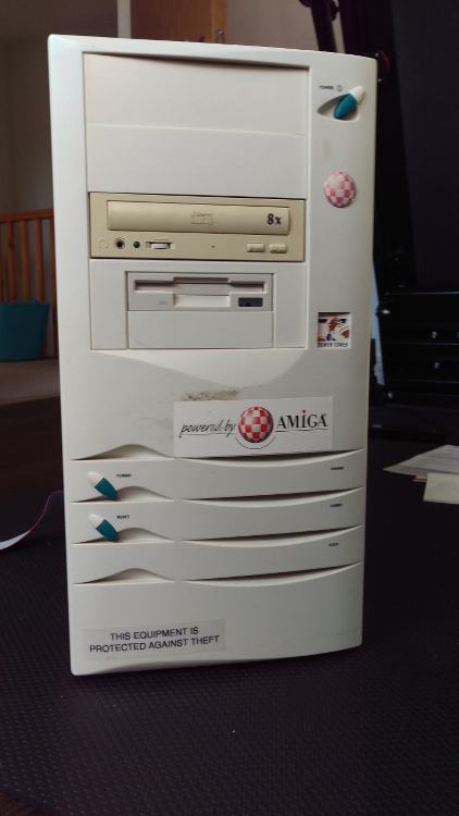The ugly towerised Amiga 1200